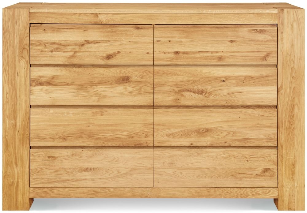 Clemence Richard Massive Oak 8 Drawer Wide Chest