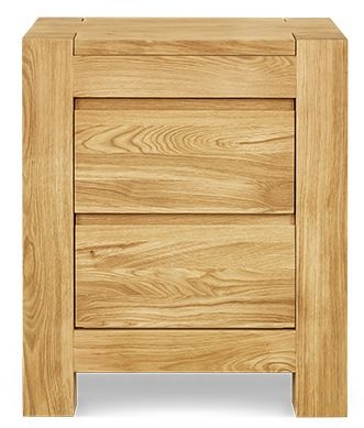 Clemence Richard Massive Oak 2 Drawer Bedside Cabinet