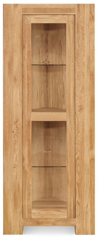 Clemence Richard Massive Oak Corner Display Cabinet
