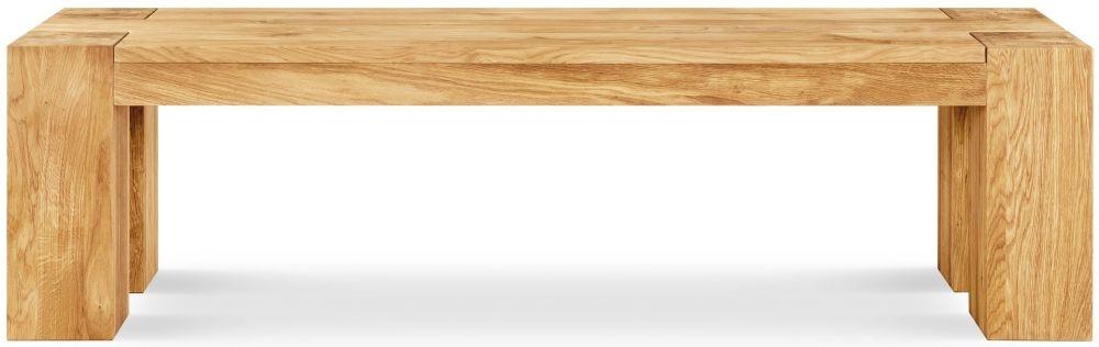 Clemence Richard Massive Oak 124cm Dining Bench