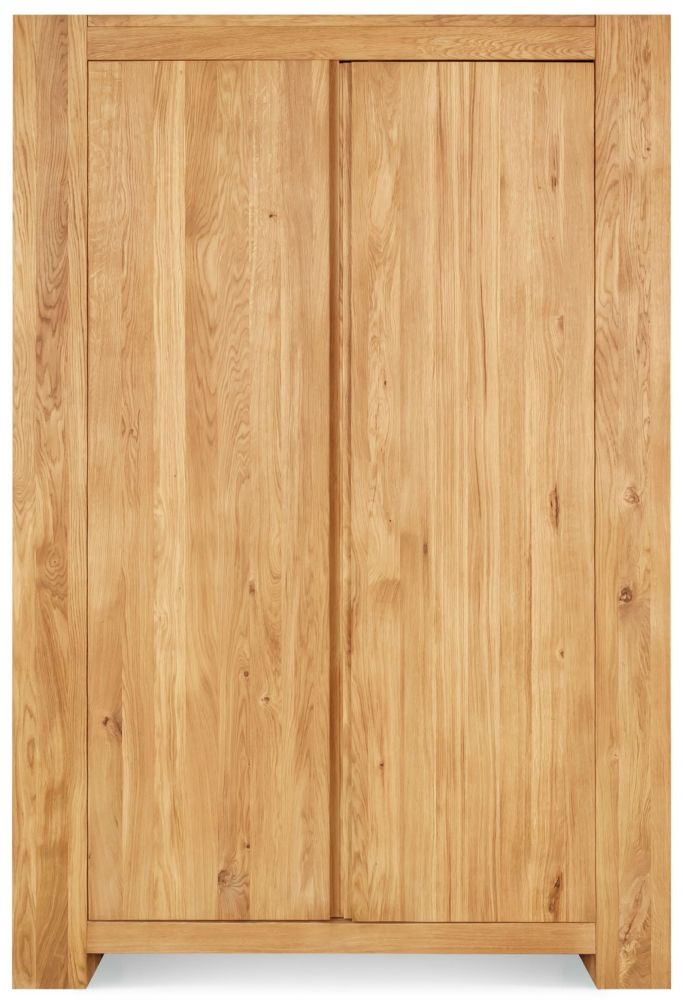 Clemence Richard Massive Oak Double Wardrobe with Drawer