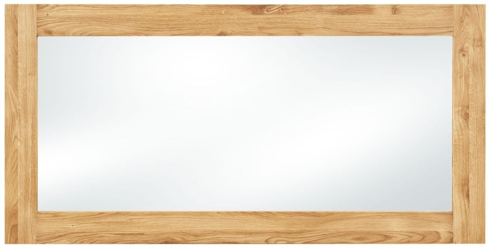 Clemence Richard Massive Oak Rectangular Mirror - 150cm x 75cm