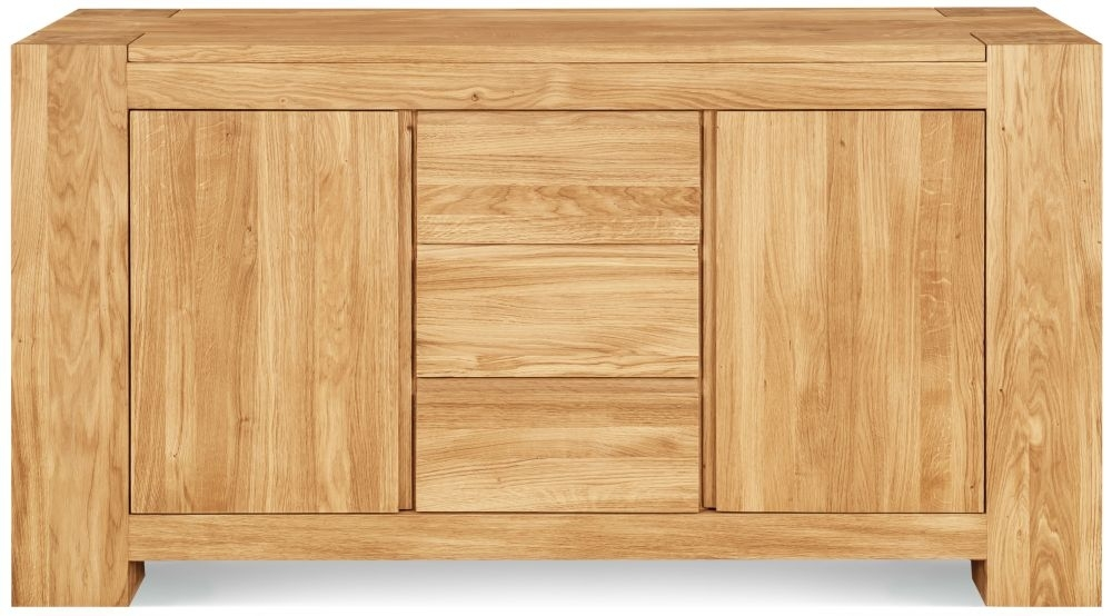 Clemence Richard Massive Oak 2 Door 3 Drawer Wide Sideboard Type19