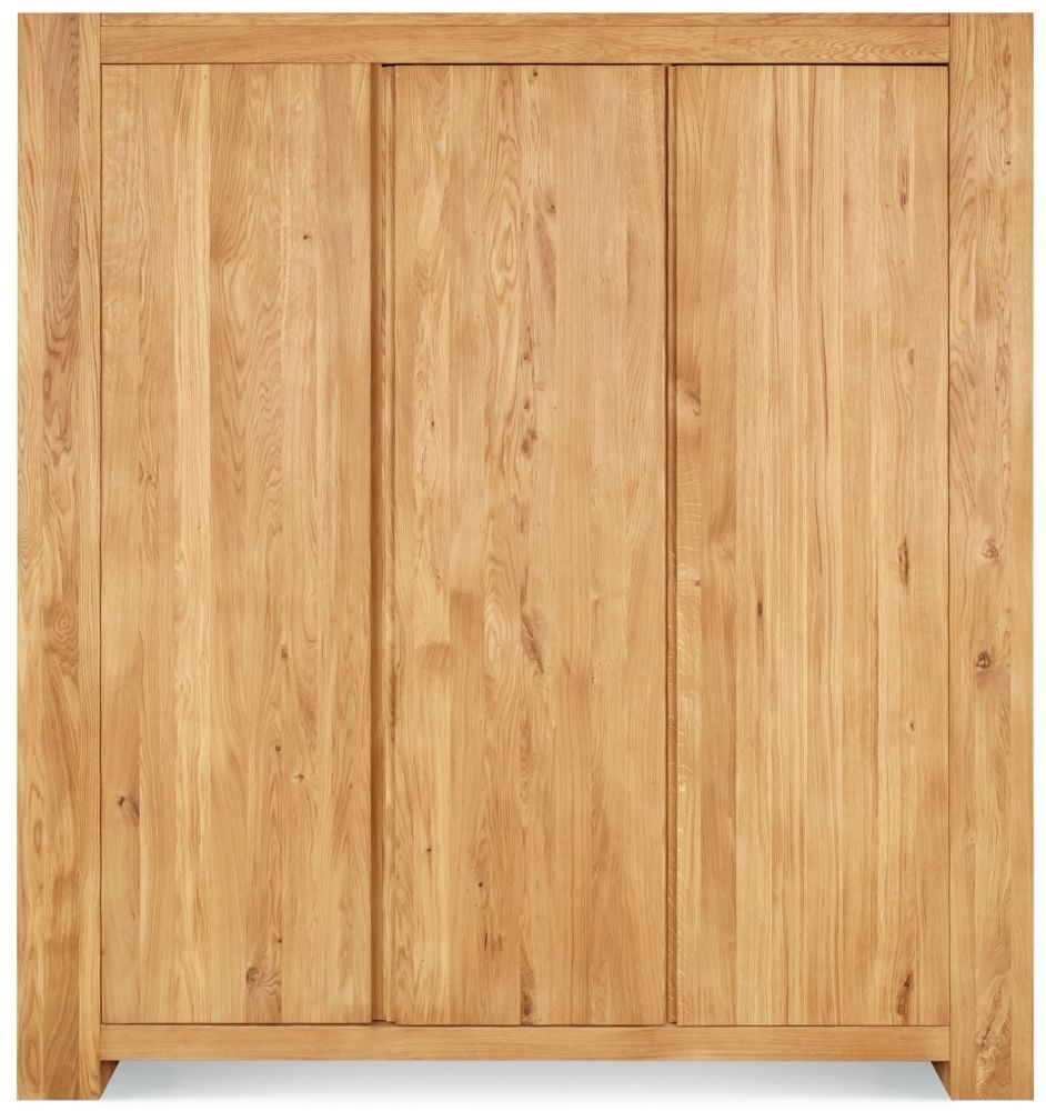 Clemence Richard Massive Oak Triple Wardrobe