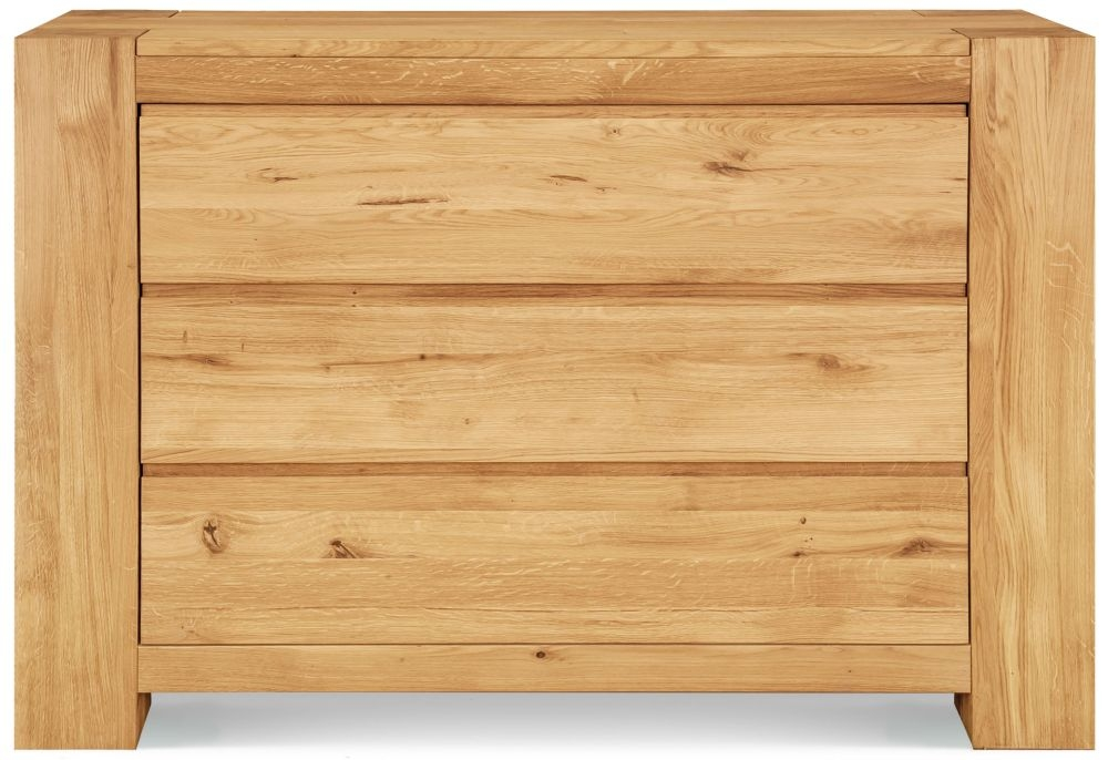 Clemence Richard Massive Oak 3 Drawer Wide Chest