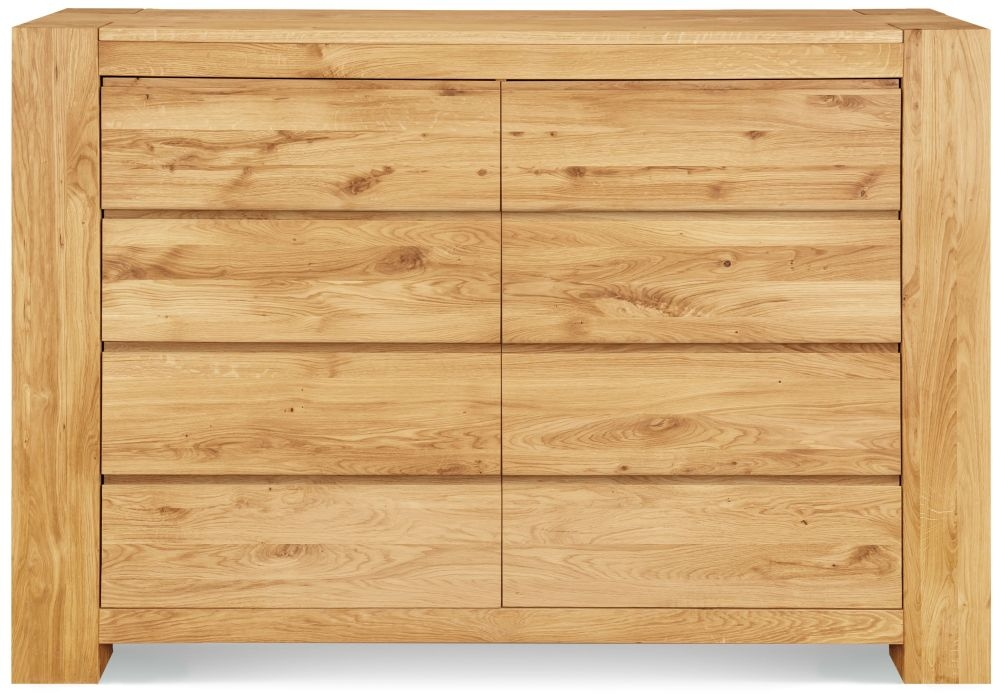 Clemence Richard Massive Oak Wide 8 Drawer Chest of Drawer