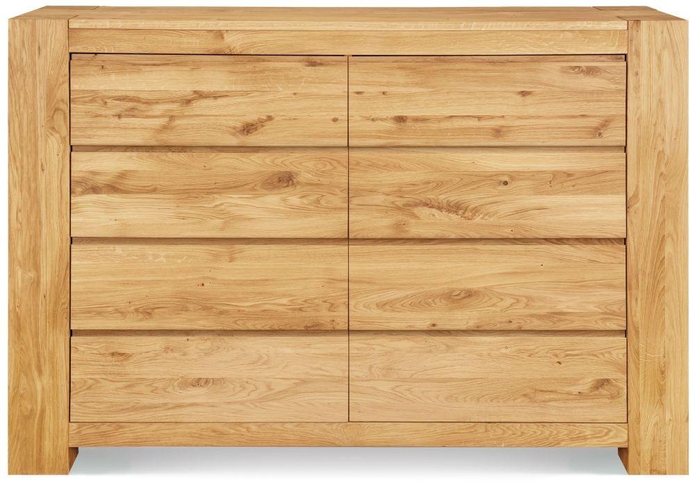 Clemence Richard Massive Oak 8 Drawer Wide Chest