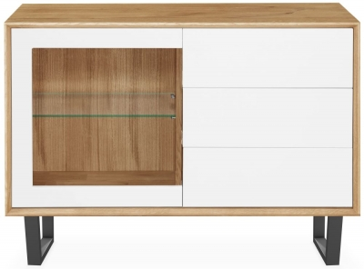 Clemence Richard Modena Oak 1 Glass Door Combi Sideboard