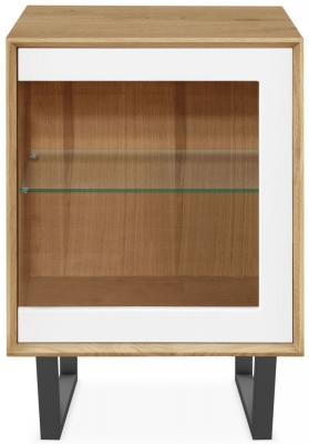 Clemence Richard Modena Oak 1 Glass Door Cabinet
