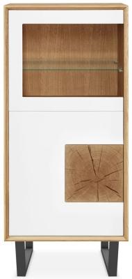 Clemence Richard Modena Oak 2 Door Display Cabinet