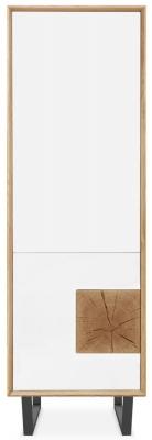 Clemence Richard Modena Oak 2 Door Tall Display Cabinet