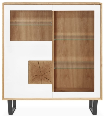 Clemence Richard Modena Oak 3 Door Display Cabinet
