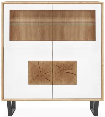 Clemence Richard Modena Oak 4 Door Display Cabinet