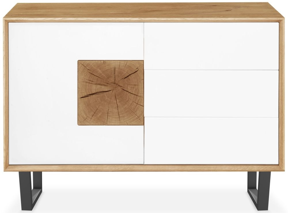 Clemence Richard Modena Oak 1 Door Combi Sideboard
