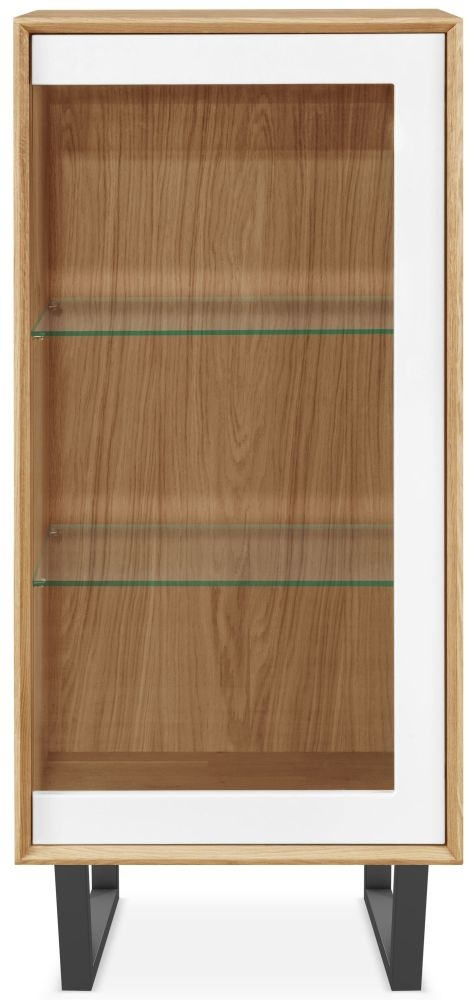 Clemence Richard Modena Oak 1 Door Display Cabinet