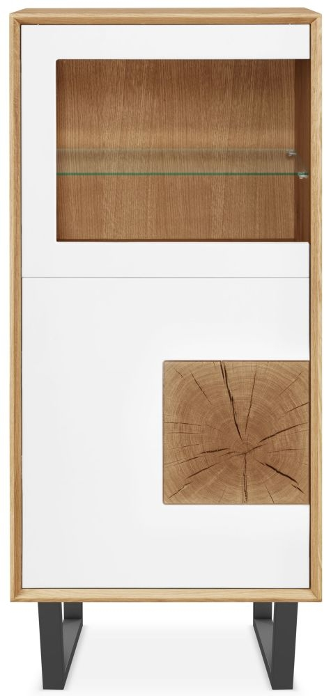 Clemence Richard Modena Oak 2 Door Display Cabinet - 211