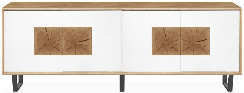 Clemence Richard Modena Oak 4 Door Wide Sideboard