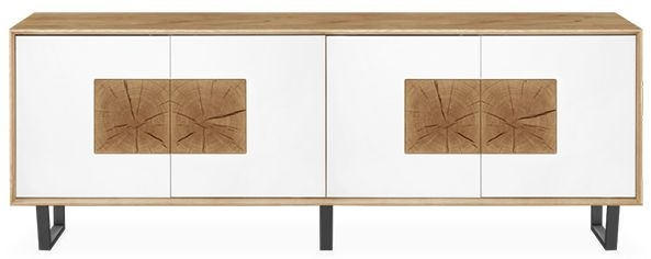 Clemence Richard Modena Oak Large 4 Door Sideboard