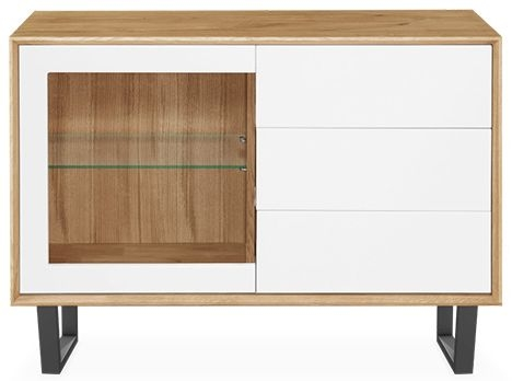 Clemence Richard Modena Oak 1 Door 3 Drawer Narrow Sideboard - 206