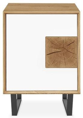 Clemence Richard Modena Oak 1 Door Narrow Sideboard