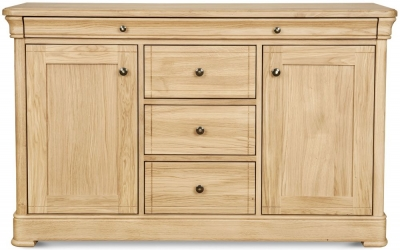 Clemence Richard Moreno Oak 2 Door 4 Drawer Large Sideboard