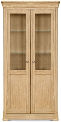 Clemence Richard Moreno Oak 2 Door Display Cabinet