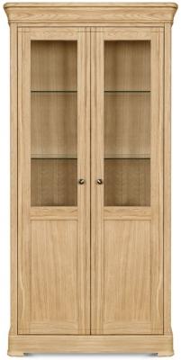 Clemence Richard Moreno Oak 2 Door Display Cabinet