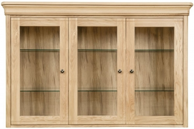 Clemence Richard Moreno Oak 3 Door Large Sideboard Top