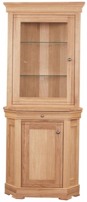 Clemence Richard Moreno Oak Corner Display Cabinet 568