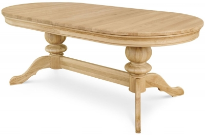 Clemence Richard Moreno Oak Double Pedestal Dining Table