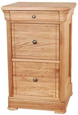 Clemence Richard Moreno Oak 2 Drawer Filing Cabinet