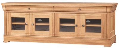 Clemence Richard Moreno Oak Hi Fi with Glass Door