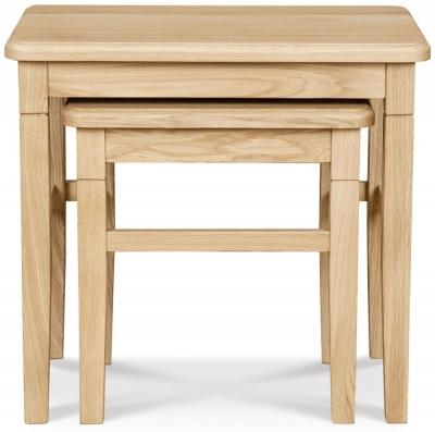 Clemence Richard Moreno Oak Nest of Tables