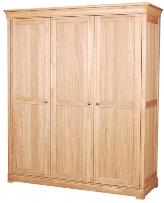 Clemence Richard Moreno Oak Triple Wardrobe
