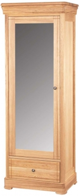Clemence Richard Moreno Oak Wardrobe with Mirror