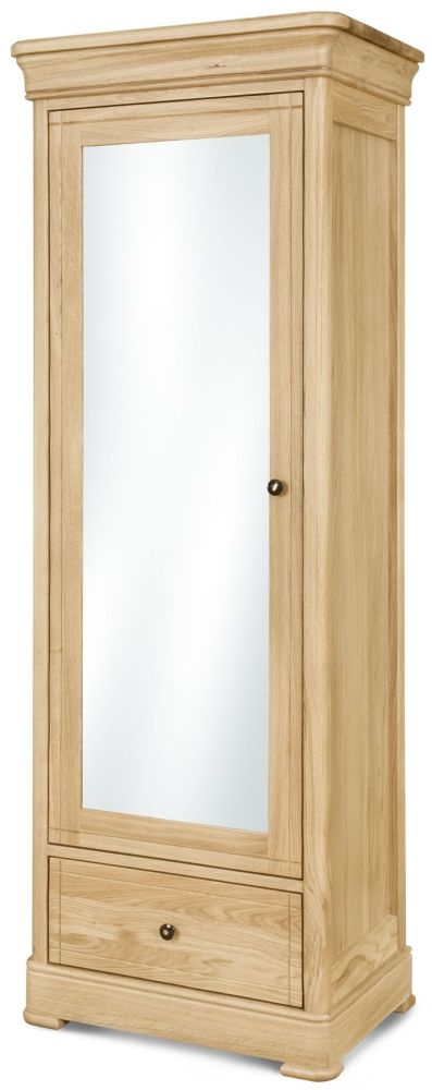Clemence Richard Moreno Oak 1 Door Wardrobe