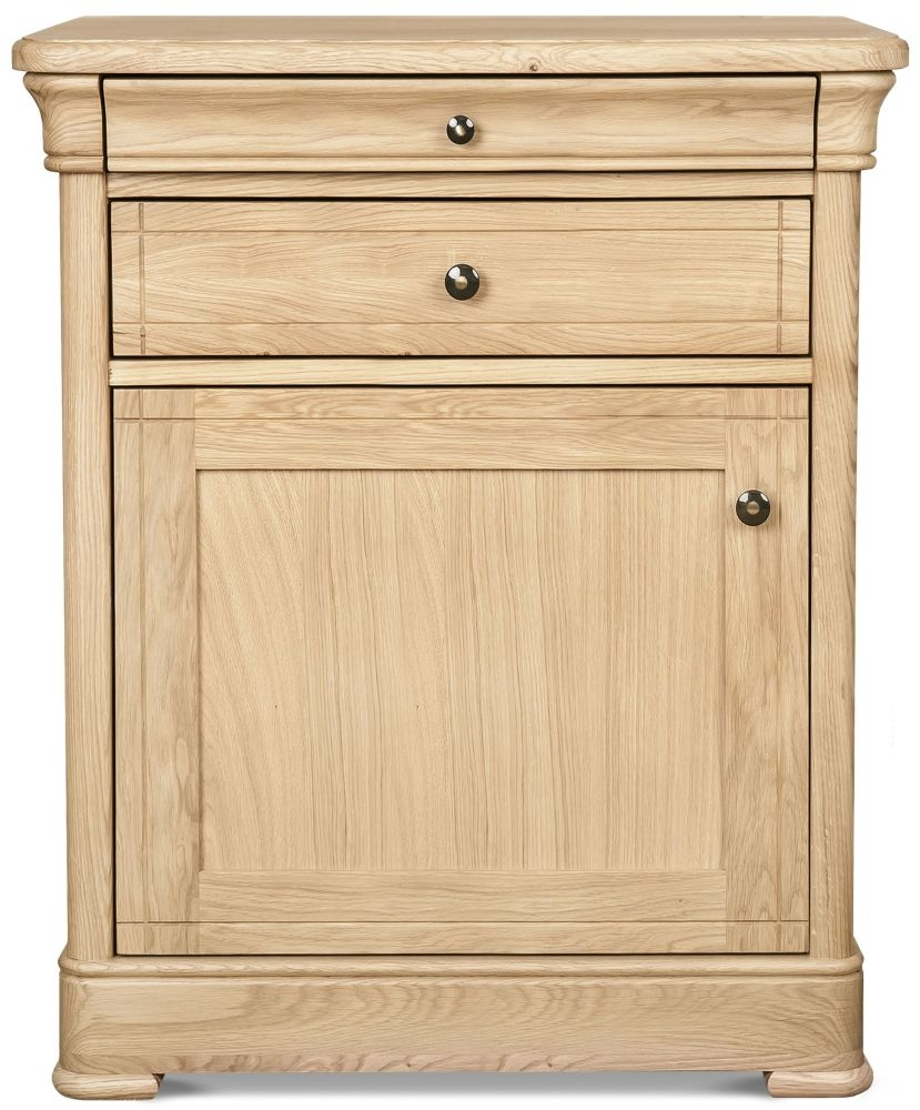 Clemence Richard Moreno Oak 1 Door 2 Drawer Narrow Sideboard