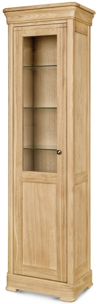 Clemence Richard Moreno Oak 1 Door Narrow Display Cabinet