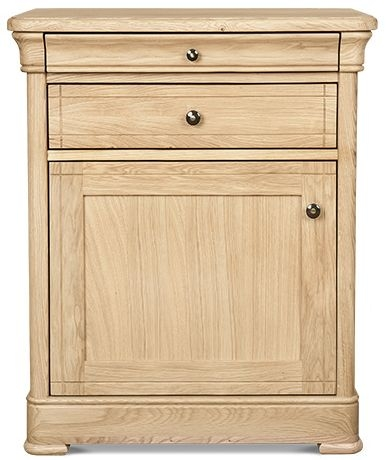 Clemence Richard Moreno Oak 1 Door Narrow Sideboard
