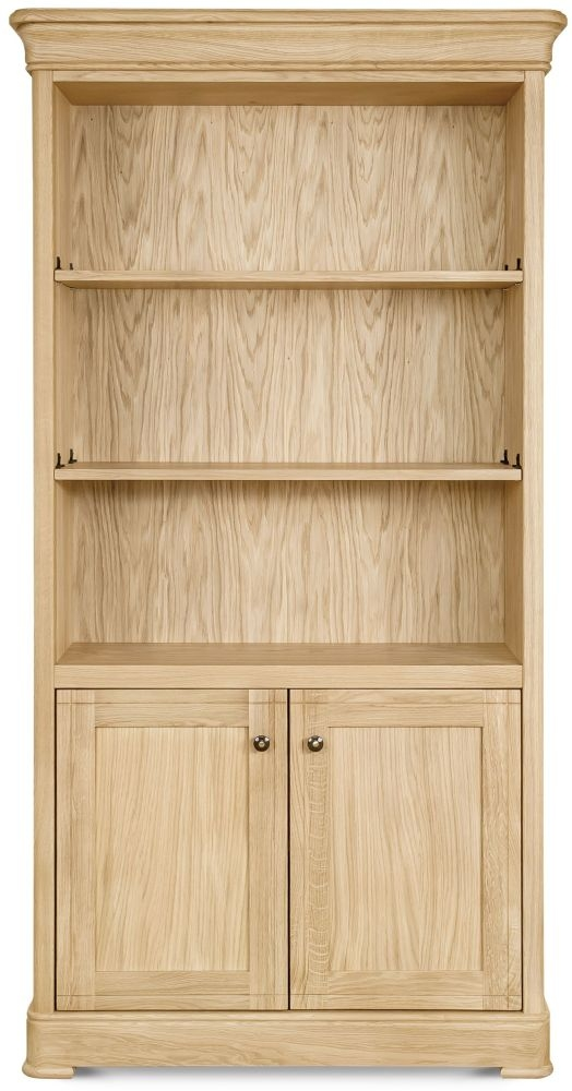 Clemence Richard Moreno Oak Tall Wide Bookcase