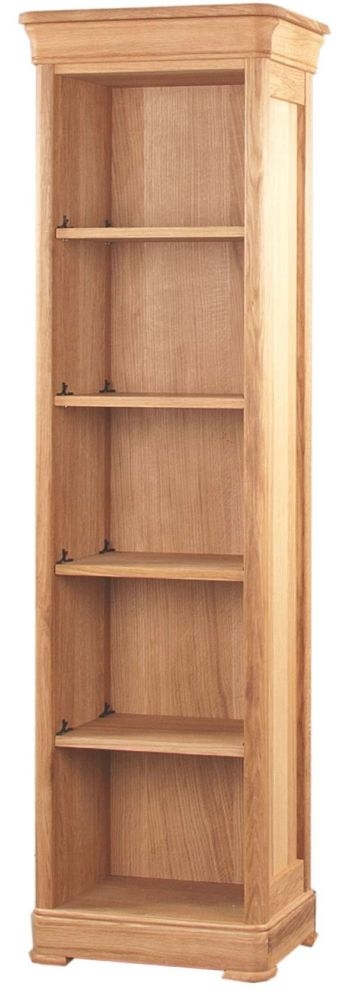 Clemence Richard Moreno Oak Narrow Bookcase