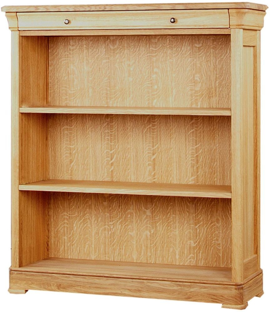 Clemence Richard Moreno Oak Bookcase with Drawer 554B