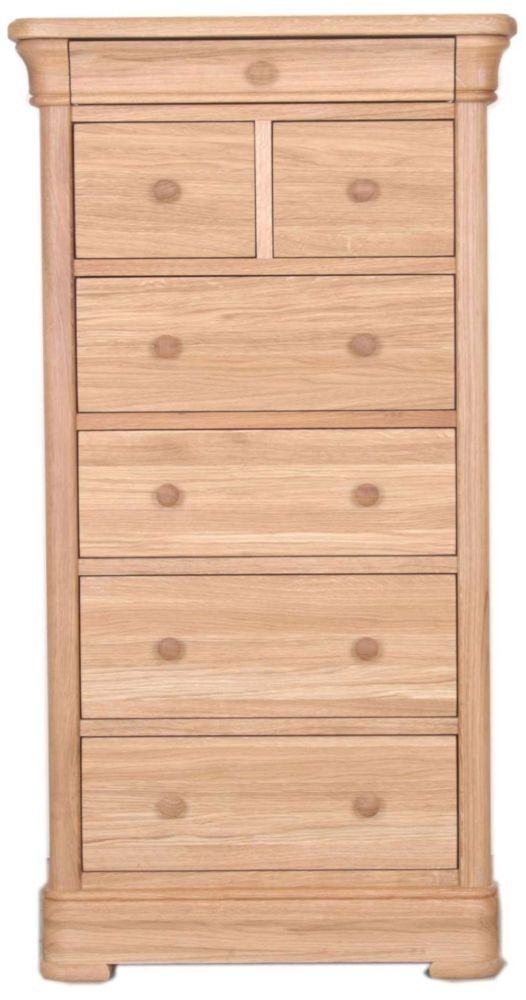 Clemence Richard Moreno Oak 6 Drawer Tall Chest