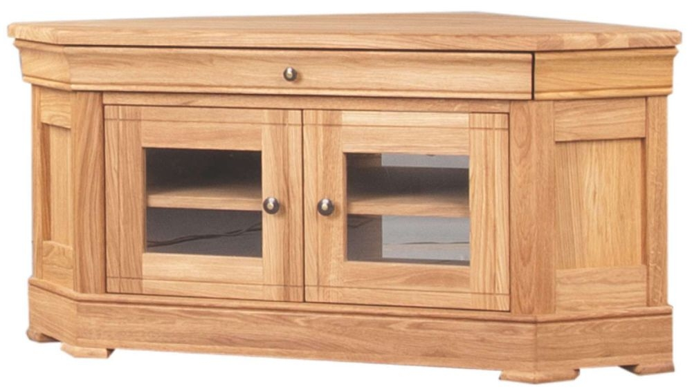 Clemence Richard Moreno Oak Corner TV Unit