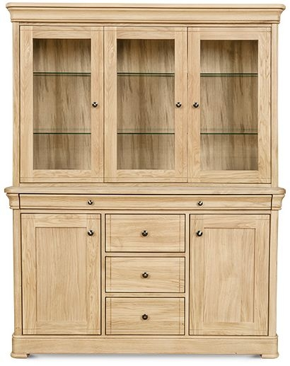 Clemence Richard Moreno Oak 5 Door Combi Display Cabinet