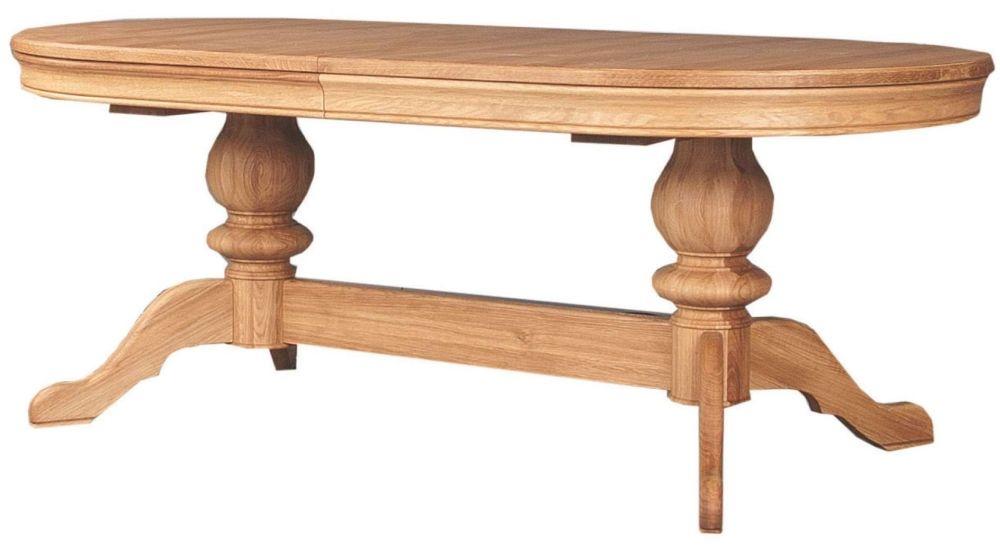Clemence Richard Moreno Oak Double Pedestal Table