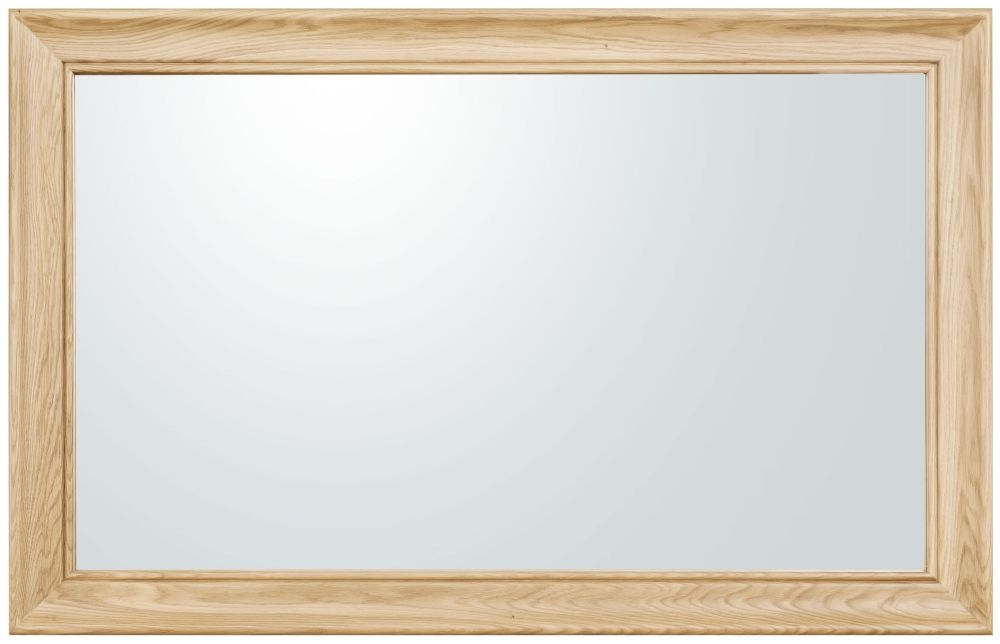 Clemence Richard Moreno Oak Rectangular Mirror - 80cm x 100cm