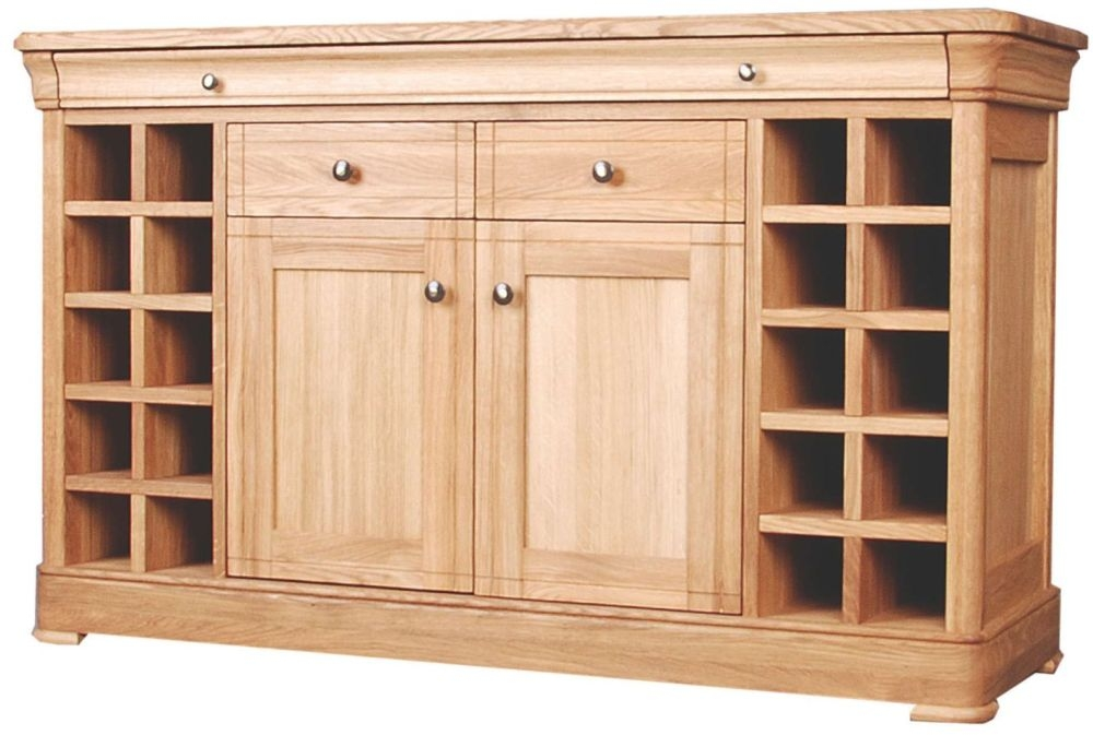 Clemence Richard Moreno Oak Sideboard with Wine Rack