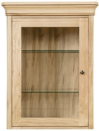 Clemence Richard Moreno Oak 1 Door Top Narrow Sideboard