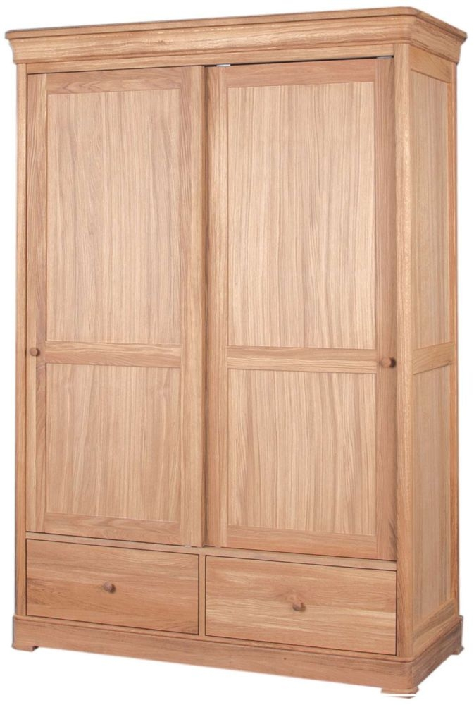 Clemence Richard Moreno Oak 2 Door Sliding Wardrobe